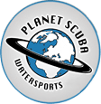 Top Dive Planet Skuba Logo Planet