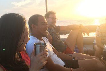 Tauchreise Sonnenuntergang Schiff Top Dive
