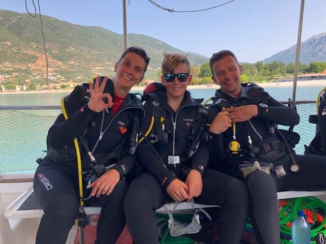 Top Dive Magazin Abtauchen auf Lefkas in Griechenland Gruppenbild