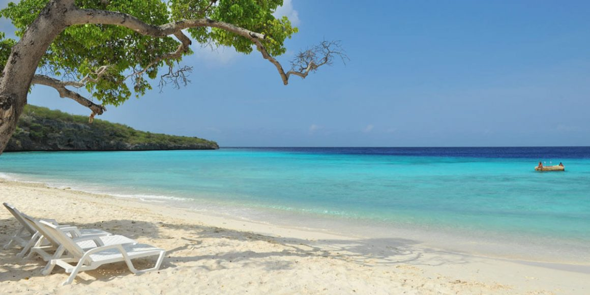 Strand mit Meer Curacao