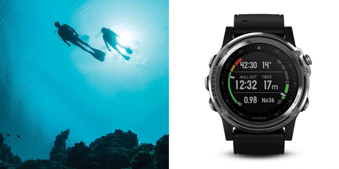 Top Dive Magazin Garmin Descent RecDiveHero 0096 Taucher und Uhr